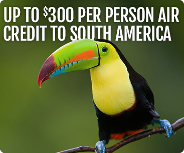 $300 Air Credit to South America