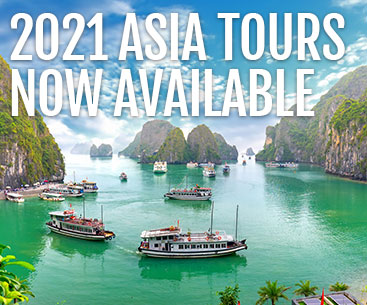 2021 Asia Vacations Now Available