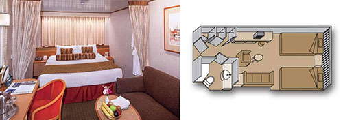 MS Zaandam Large or Standard Interior Staterooms
