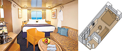 ms Noordam Large Ocean-view Staterooms, Category C and D